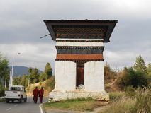 Piękny chorten w Bhutan fotografia royalty free