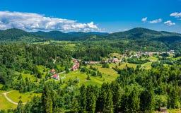 Piękny chorwacja krajobraz, Gorski kotar zdjęcie stock