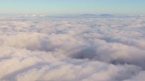 Piękny cloudscape od samolotu zbiory