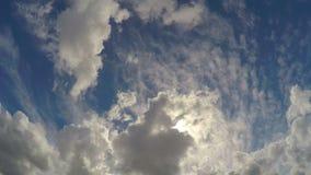 Piękny cloudscape timelapse, wiecznotrwały szczęście z bóg w niebie zbiory