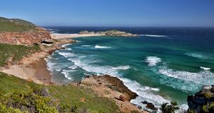 Piękny Coastaline i ocean w Południowa Afryka Zdjęcie Royalty Free