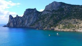piękny Crimea jeden umieszcza Ukraine Rezerwuje Nowego światło Zdjęcie Stock