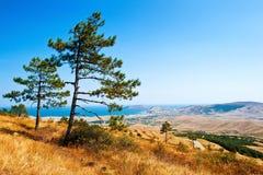Piękny Crimea krajobraz obraz stock