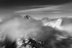 Piękny Czarny i biały lanscape w Wysokim Tatras Obrazy Royalty Free