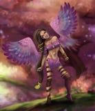 Piękny czarodziejski elf z aniołów skrzydłami Fotografia Stock