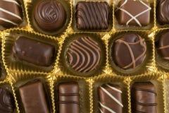 Piękny czekolada cukierków tło Zdjęcia Stock
