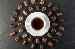 Piękny czekolada cukierków tło Zdjęcie Stock