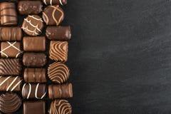 Piękny czekolada cukierków tło Obrazy Royalty Free