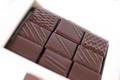 Piękny czekolady pudełko obraz stock