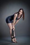 piękny czerń sukni dziewczyny skrót Fotografia Royalty Free