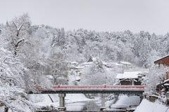 Piękny czerwień most Obraz Royalty Free