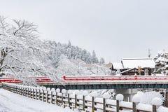 Piękny czerwień most Obrazy Stock
