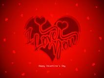 Piękny czerwonego koloru miłości tło z sercami royalty ilustracja