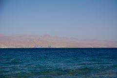 piękny czerwonego morza krajobraz od Izrael wybrzeża Zdjęcie Stock