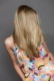 Piękny długi blondyn Obraz Royalty Free
