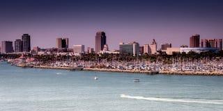 Piękny długi plażowy CA usa Fotografia Royalty Free