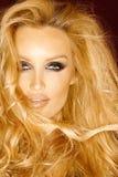 Piękny długie włosy blondynu model Zdjęcia Stock