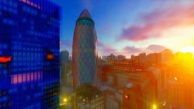 Piękny 3D obraz miasto Londyn, 4K ilustracja wektor