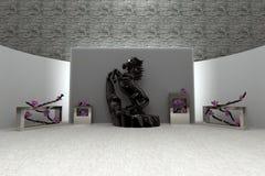 Piękny 3d wnętrze Nowożytny lub Antyczny styl wystawa Obraz Stock