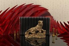 Piękny 3d wnętrze Nowożytny lub Antyczny styl wystawa Obrazy Royalty Free