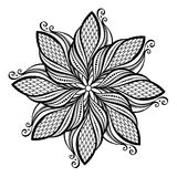 Piękny Deco mandala (wektor) ilustracja wektor