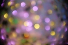 Piękny defocus okrąg w nighttime tle Zdjęcia Stock