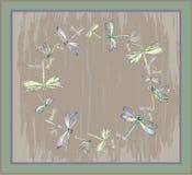 piękny dekoracyjny dragonfly struktury gree Kartka z pozdrowieniami dowcip Zdjęcie Royalty Free