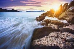 Piękny denny głąbik nyang oo phee wyspa najwięcej popularnego traveli obraz stock