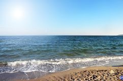 Piękny denny ocean w słonecznym dniu obraz royalty free