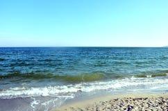 Piękny denny ocean w słonecznym dniu obrazy stock