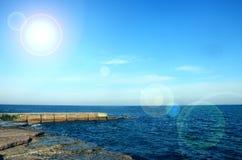 Piękny denny ocean w słonecznym dniu fotografia stock