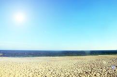 Piękny denny ocean w słonecznym dniu fotografia royalty free
