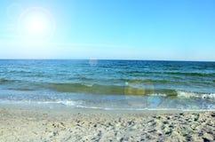 Piękny denny ocean w słonecznym dniu zdjęcia stock