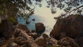 Piękny denny skalisty krajobraz ocean zdjęcie wideo
