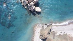 Piękny denny widok z lotu ptaka zbiory wideo