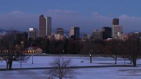 Piękny Denwerski wschód słońca w zimie zdjęcie wideo