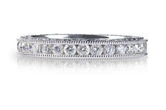 Piękny Diamentowy Ślubnej rocznicy zespołu pierścionek Zdjęcie Stock