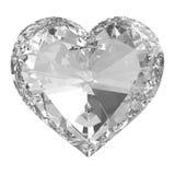 Piękny diamentowy serce Zdjęcia Royalty Free