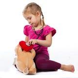 piękny doktorski lali dziewczyny bawić się Zdjęcie Stock