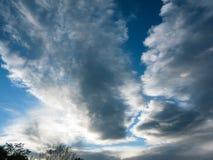 Piękny dramatyczny niebo nad Wiedeń Austria zdjęcie royalty free
