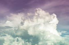 Piękny dramatyczny rocznika niebo (przetwarzający kolory) Zdjęcia Royalty Free