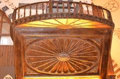 Piękny drewniany sztuka szczegół w Egipskim bazarze, Istanbuł obraz royalty free