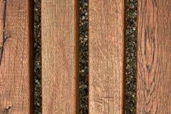 Piękny drewniany tekstura wzór z żwiru tłem Zdjęcia Stock