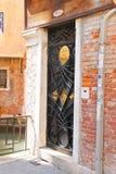 Piękny drzwi dentysty biuro w Wenecja, Włochy Obraz Royalty Free