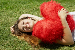 piękny dzień dziewczyny kierowy s valentine zdjęcia royalty free