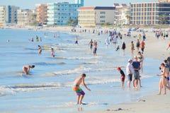 Piękny dzień przy madery plażą na zatoce meksykańskiej, Floryda Zdjęcie Stock