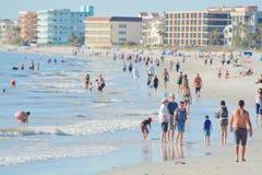 Piękny dzień przy madery plażą na zatoce meksykańskiej, Floryda Zdjęcia Royalty Free
