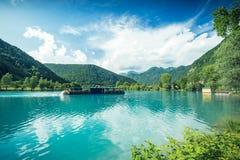 Piękny dzień przy Najwięcej na Soci w Slovenia zdjęcie stock