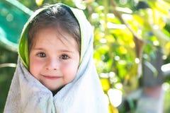 piękny dzieci headshot ręcznik Fotografia Royalty Free