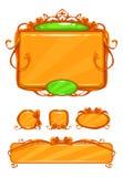 Piękny dziewczęcy pomarańczowy gemowy interfejs użytkownika Fotografia Royalty Free